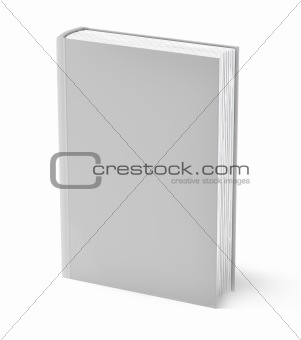 Gray book isolated on white . Clean cover. Isolated on white