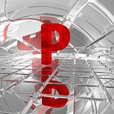 p in futuristic space