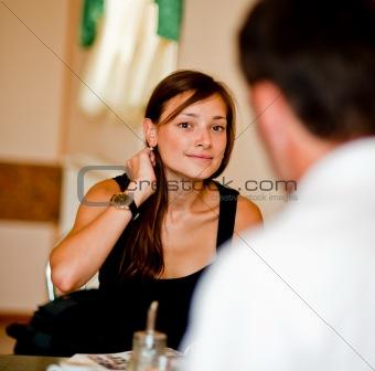 Flirtation of the nice girl