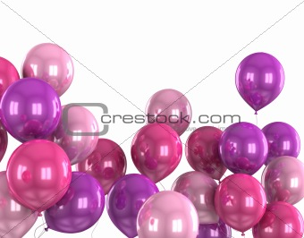 3d color helium balloon
