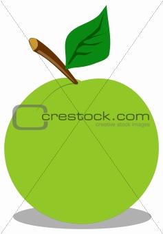Green fresh apple