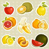 Cartoon fruits stickers