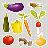 Cartoon vegetables stickers 