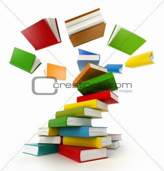 Books Tornado. Isolated on white