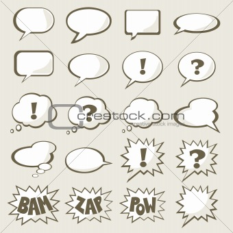 Set of vector speech bubble