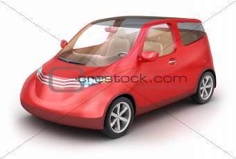 City car isolated on white . My Own Design. Isolated on white