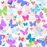 White seamless valentine pattern