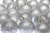 silver glass balls the Christmas