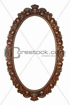 Old oval bronze frame