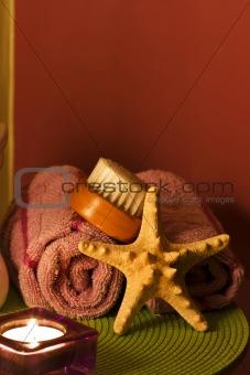 Bath towels spa decoration