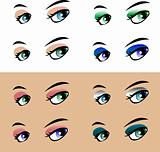 woman eye on white background Modern style. Vector illustration