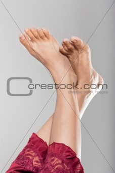 Beautiful clean female feet