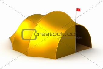 Tourist tent isolated on white