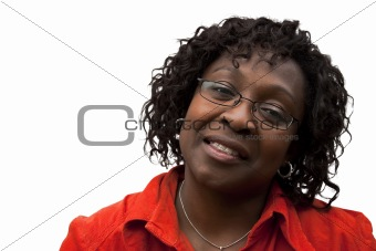 African American Woman with smile