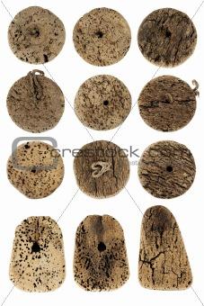 Old fishing net cork
