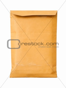 Close Old brown document envelope
