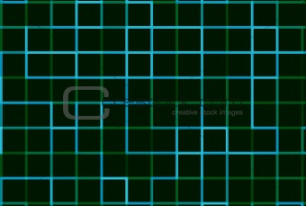 Abstract Blue Green Grid