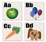 A - D alphabet cards