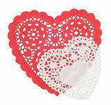 Decorative Red and White Hearts