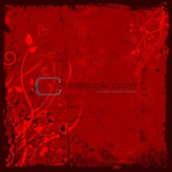 grunge floral valentines background
