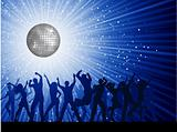 party people on disco background