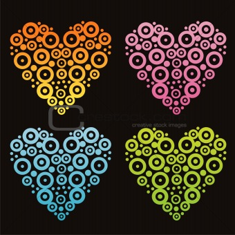 abstract hearts