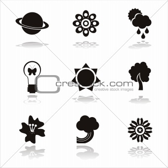 black nature icons
