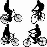 people riding bicycle