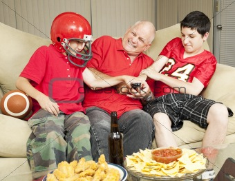Football Fans Fight for Remote