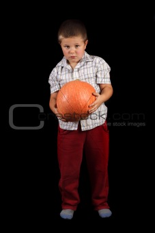 Boy And The Pumpkin