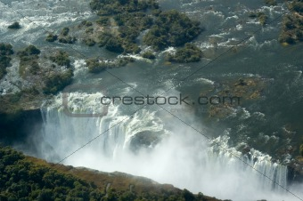 Aerial view Victoria Falls