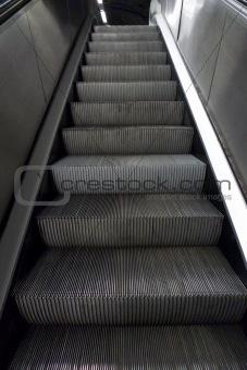 grey metal stairs