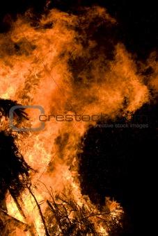 Blazing fire
