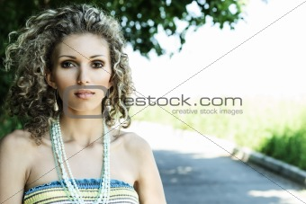 Attractive woman outdoor portrait
