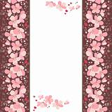 Frame with pink cherry flowers