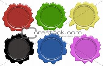 Set of wax seals