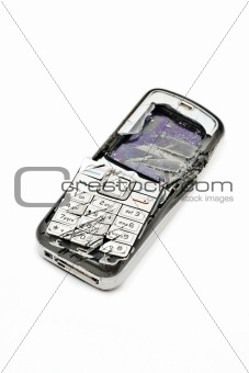 Smashed mobile phone