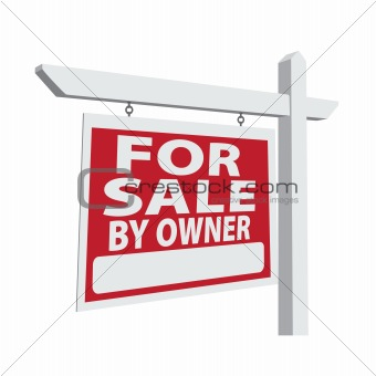 For Sale By Owner Vector Real Estate Sign Ready For Your Own Message.