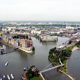 Duesseldorf mediahafen harbour