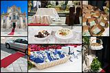 wedding day collage.