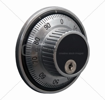 safe door code lock isolated over white