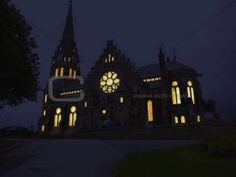 Church in the night