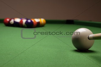 Billiard balls on table!