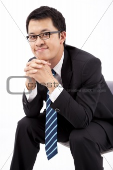 Smart and handsome asian businessman