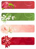 For horizontal spring banners