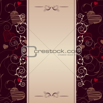 Frame with stylized hearts