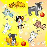vector seamless image on a pet theme