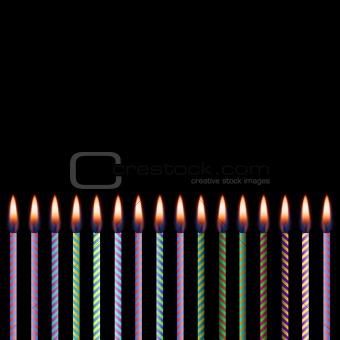Celebratory candles. EPS 8