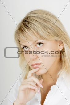 portrait of an attractive blonde girl