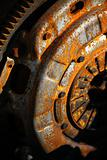 Rusty machine part